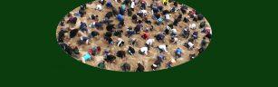 schatgraven strandgroep ovaal groene achtergrond